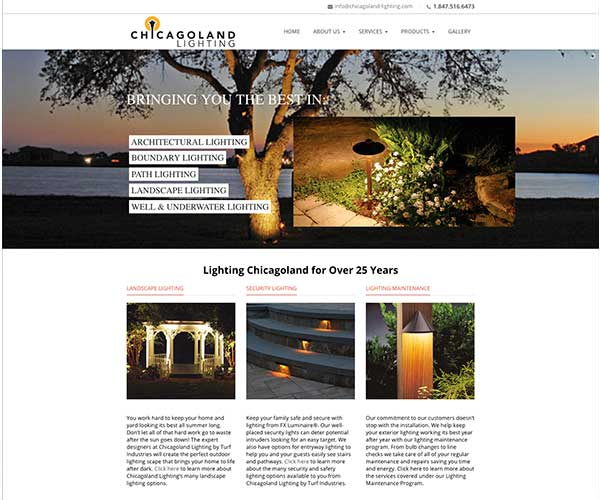 Chicagoland Lighting redesign